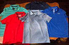 Lot of 5 Boys Under Armour Golf Polo Shirt Size Youth Medium