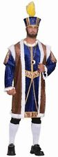 Purim Large Costume Henry The Eighth Full Purple Yellow Robe & Crown Xxxl King