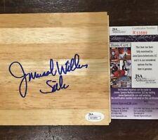 Jamaal Wilkes Hand Signed Piece of Wood Floorboard Los Angeles Lakers Silk