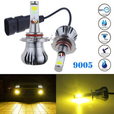 2x 2600LM 4300K 9005 9145 H10 LED Fog Driving Light Bulb Yellow Amber High Power