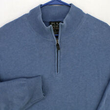 JOS A BANK Signature Collection BLUE 1/4 ZIP PULLOVER SWEATER MEN'S XL