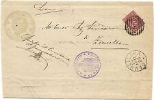 P6376   Vicenza, Gambellara, annullo numerale a sbarre 1889