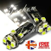 8 SMD LED T10/501/W5W 6000K CAR SIDE LIGHT BULBS CANBUS ERROR FREE XENON WHITE