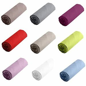 Drap Housse Pur coton 57 Fils 160  x 200 Plusieurs Coloris