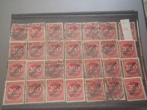 28 Stück Dienstmarken DR 200 Mark D 78 gestempelt