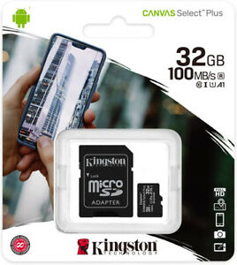 Kingston 32GB Ultra Micro SD SDHC Class 10 Mobile Memory Card SamSung 100MB/s AU