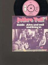 """JETHRO TULL Inside SINGLE 7"""" Alive and Well and Living In 1970"""