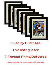 Any 7 Framed Prints/Framed Autograph Prints Delivered