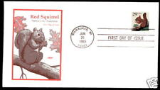 2489 Red Squirrel Self-adhesive Artmaster FDC