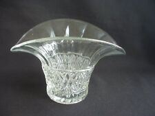 ATTRACTIVE VINTAGE CLEAR GLASS POSY VASE ~VERY STYLISH DESIGN