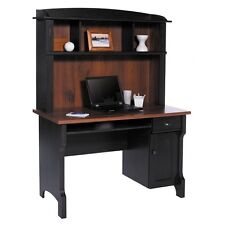 Shore Mini Solutions Computer Desk With Hutch - Antique Black - FREE SHIPPING!!