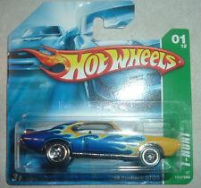 Hot Wheels 2007 Treasure Hunt #1 ~ '69 Pontiac GTO~SC~Short Cd T-Hunt~RARE HW