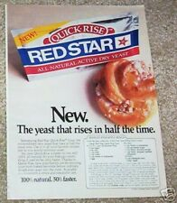 1983 ad page - Red Star Yeast - Pineapple Rings rolls recipe YUMMY vintage AD
