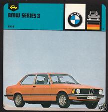 1975 BMW SERIES 3 316 318 320 German Car Picture CARD