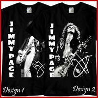Jimmy Page Guitarist Rock Band Tribute Music Black T-Shirt TShirt Tee Size S-3XL