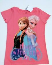 Disney Frozen Anna Elsa Family Forever Tee T Shirt Girls Sz 4 5 XS New