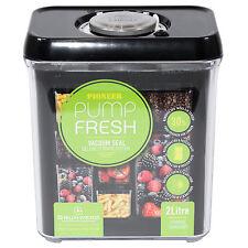 Frasco Vacío de Almacenamiento de cocina 2L Negro Tapa Alimentos CONTENEDOR harina de arroz pasta estaño