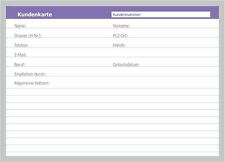 50 Karteikarten neutrale Kunden-Karteikarten DIN A5, universell