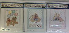 Daisy Kingdom Bucilla Stamped Cross-Stitch Three 3 Samplers 63277, 63281, 63286