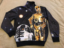 *RARE* Marc Ecko Cut & Sew Star Wars Track Jacket LARGE C-3PO R2-D2 Mandalorian