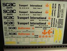 DECALS TRAIN 1/87 MARQUAGES SEMI-REMORQUE PART 1 SCAC / RENTCO - CARPENA  8701