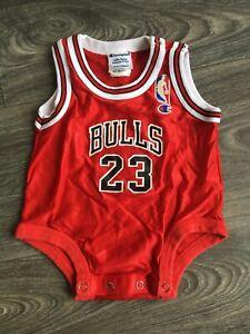 Michael Jordan Chicago Bulls Vtg 90s Jersey One Piece Champion Baby 3-6 mos