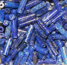 Lapis Lazuli Afghanistan Natural Gemstone Tube Beads AA Quality 13x4 MM (10)