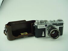Nikon SP Rangefinder Camera W/ 5cm F/1.4 Early # 6200229 First 229 SP Made -RARE