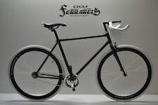 Fixed 28 scatto fisso single speed contro pedale nera e bianca