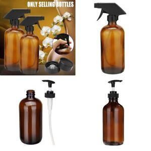 250/500ML Amber Glass Aromatherapy Essential Oil Spray Press Bottles Dispenser