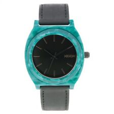 Nixon Women's A328-054 'Acetate' Black Leather Watch