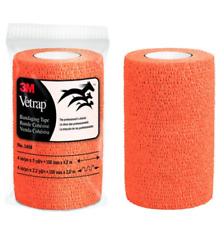 3M Vet Wrap 4 Inch x 5 Yards Neon Orange Vetrap Dog Horse