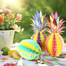 Paper Jazz Multicolored Paper Pineapple Honeycomb Ball Table Centerpiece Hanging