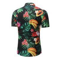 Casual dress shirt tops summer men's slim fit t-shirt formal luxury floral