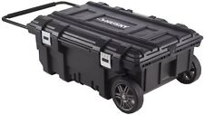 Portable Husky 35 in. Mobile Job Box Tool Carrier Cart Storage Power Cord Access