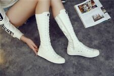 Winter Long Shoes Women Female Fashion Design Sneakers Boots High Top Lace Up