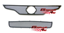 For 2010-2012 Nissan Altima 2Dr Black Stainless Steel Mesh Grille Combo