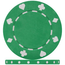 Budget Range Green Suited Poker Chips (Roll of 50)