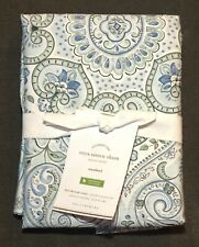 One New Pottery Barn Anya Sateen Standard Pillow Sham Organic Cotton Cool Blue