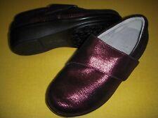 Alegria by PG Lite Lauryn Leather Slip-On Shoes Women's 36W/6-6.5 W Wine Weave ~