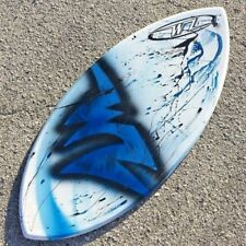 "NEW Wave Zone Dart 41"" Skimboard - Blue - White -  Fiberglass & Foam"