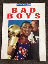 1988-89 Detroit Free Press Pistons Bad Boys Commemorative Graphic Year Book