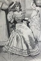 French MODE ILLUSTREE SEWING PATTERN Dec 19,1897 BALL & RECEPTION GOWNS