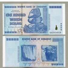 100 TRILLION ZIM NOTE / 100 TRILLION DOLLAR ZIMBABWE CURRENCY 2008 AA UNC NOTE