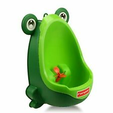 Foryee Cute Frog Potty Training Urinal for Boys With Funny Aiming Target Green