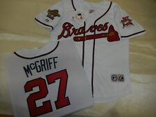 0812 Majestic 1995 Atlanta Braves FRED McGRIFF World Series Baseball JERSEY New