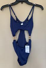 BCBG Generation Blue One Piece swim Suit Bikini Women's Size S