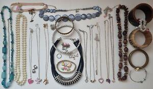 Joblot of costume jewellery. Bracelets , necklaces, Ring. Bundle 2