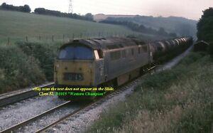 Original 35MM Colour Railway Slide, Diesel Loco Class 52, D1015 Western Champion