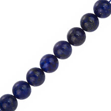 "Rond naturel bleu lapis lazuli perles 12mm 7.5"" strand (F33/1)"
